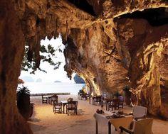 Restaurantes espectaculares: The Grotto (Tailândia)