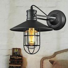 Alta Qualidade Edison Vintage lâmpada de Parede Lâmpada de Parede Gaiola de Pássaro Rústico Ajustável Luz Industrial Sótão lâmpada de Parede Arandela Com Guarda Vidro E27(China (Mainland))