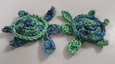 Sea turtle applique crochet pattern.