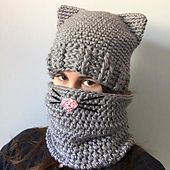 Ideas Crochet Cat Hat Pattern Ravelry For 2019 Chat Crochet, Crochet Adult Hat, Bonnet Crochet, Crochet Cat Pattern, Crochet Beanie, Knitted Hats, Crochet Owls, Crochet Food, Knitted Dolls