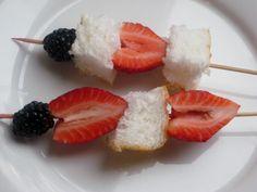 Angel food and fruit kabob