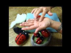 How to Needle Felt a Lady Bug Video