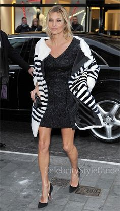 Seen on Celebrity Style Guide: Kate Moss wore this stripe Rabbit Boatneck Coat to Playboy's 60th anniversary celebration December 1....http://rstyle.me/~14cae