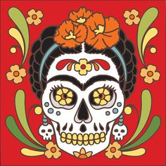 * Day of the Dead Ceramic Tile  -- Cyber Monday Sale: 20% Off Art & Home Accessories. Valid through 11:59PM PT #CyberMonday #sales #homeinteriors