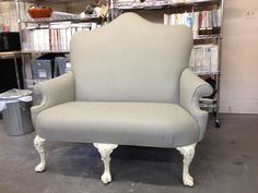 Yes, this sofa fabric is painted using French Linen Chalk Paint® decorative paint by Annie Sloan
