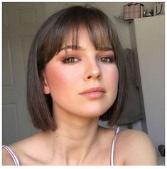 Latest Bob Hairstyles with Bangs Latest Bob Hairstyles . - Latest bob hairstyles with bangs Latest bob hairstyles with bangs - Haircuts Straight Hair, Cute Hairstyles For Short Hair, Bangs Short Hair, Formal Hairstyles, Short Hair With Bangs For Round Faces, Trending Hairstyles, Short Straight Haircut, Choppy Hair, Makeup For Short Hair