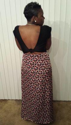 Back view of a dress I designed