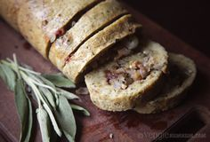 For a real gluten hit! - Baked Seitan Roll w/ Sage, Date & Walnut Stuffing
