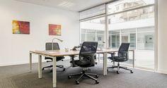 Espaço de reuniões nos escritórios da Regus em Lisboa, Portugal