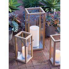 """Outdoor 6""""x12"""" Pillar Candle with Timer 