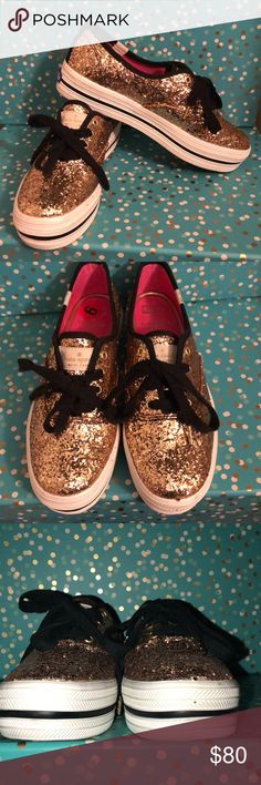 Keds by Kate Spade gold glitter size 6 New ! No box . Keds by Kate spade New York gold glitter size 6. kate spade Shoes