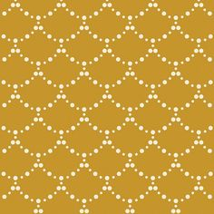 Emmy Grace Ripples River Mustard Gold and cream by GatherFabrics