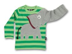 Ubang babblechat elephant tee Longsleeve Elefant Shirt indigo stripe ~NEU