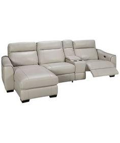 HTL Furniture-Dustin -Dustin 4 Piece Leather Power ...
