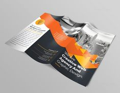 Premium Brochure Template with Triangle Shapes 000744