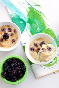 Blackberry Creme Brulee with Brown Sugar Sauce
