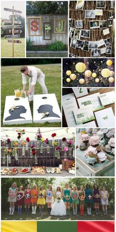 If we do it on a farm i want games.  we can easily make the corn hole boards.  Backyard Wedding, inspiration board by The Simplifiers