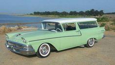 Light Custom 1958 Ford 2 Door Ranch Wagon