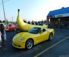 O carro banana {fotos e vídeos}