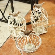 Free Shipping! Bird Candle Holder Romantic Feelings Metal Candle Holder Classic Birdcage White Wedding Gift Home Decoration-in Candle Holders from Home & Garden on Aliexpress.com