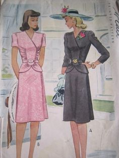 McCall's pattern ~ casual suit skirt