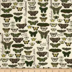 Short & Stout Butterflies Cream - Discount Designer Fabric - Fabric.com