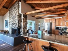 Gourmet kitchen! #cabin #cozycabin