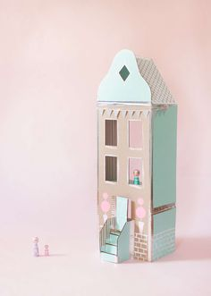 cardboard dollhouse #playfultoysandcrafts