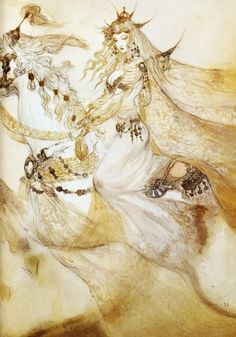 ≍ Nature's Fairy Nymphs ≍ magical elves, sprites, pixies and winged woodland faeries - Yoshitaka Amano Art Inspo, Kunst Inspo, Art And Illustration, Fantasy Kunst, Fantasy Art, Yoshitaka Amano, Art Asiatique, Drawn Art, Vampire Hunter