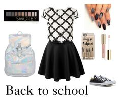 """Back to school part one"" by ddkelso on Polyvore featuring Casetify, LE3NO, Lipsy, Converse and Forever 21"