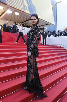 Kendall Jenner flashes her incredibly pert derrière at Cannes screening   Daily Mail Online