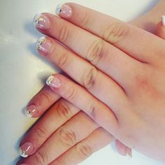 French with bling #sandsmk #frenchnails