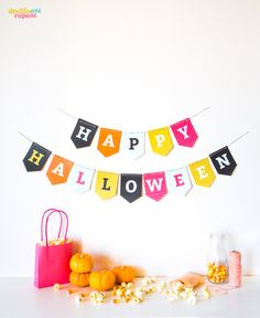 DIY printable Halloween banner #garland