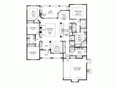 Another great floor plan - change the den to a third bedroom and the dining room to a den...
