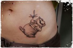 Such a cute hippo tattoo