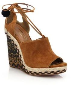 Aquazzura Palm Springs Wedge Sandals