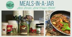 Beef Veggie Skillet Meal-in-a-Jar Recipe - Your Thrive Life with Jodi Weiss Veggie Skillet Recipe, Skillet Meals, Mason Jar Meals, Meals In A Jar, Other Recipes, New Recipes, Healthy Vegetables, Veggies, Thrive Food Storage