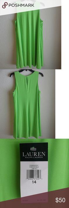 Sz 14 NWT Ralph Lauren dress Beautiful shade of green and fully lined! Lauren Ralph Lauren Dresses
