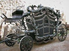 Awesome historic Gothic style carriage spooky #Europe
