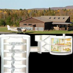 Okay all you apocalypse preppers!  This Adirondack house with killer views hides below the surface a 176-foot-deep missile silo, measuring 52 feet in diameter. In other words: a massive bomb shelter built to withstand a 200-pound-per-square-inch blast. | Photo: ColdWarMissileSilo.com | thisoldhouse.com