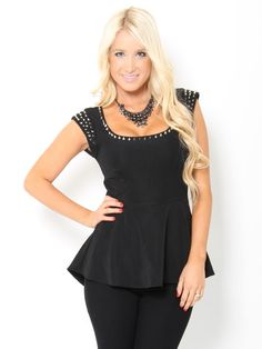 Peplum Top-I love the style of this shirt. And apparently so does everyone else. I can't find it anywhere. :( ~ KB