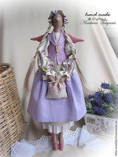 Куклы Тильды ручной работы. Ярмарка Мастеров - ручная работа Прованс... Тильда ангел Лавандовая фея III. Handmade.