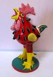 Medrano ceramic chicken -                   .....The-folk-tree.myshopify.com
