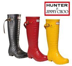 Jimmy Choo x Hunter Wellington Boots ジミーチュウ × ハンター コラボレーションブーツ