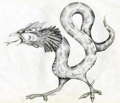 Basilisco común.... es un híbrido de un gallo, un reptil y un murciélago. Muy temidos por su poder de petrificación.