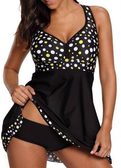 Cheap Body Suits, Buy Directly from China Suppliers:Tankini Set Plus Size Swimwear Women Swimsuit 2018 Swim Dress Swimsuit Polka Dot Swimming Suit Bathing Suit Skirt Beachwear Plus Size Swimsuits, Two Piece Swimsuits, Women Swimsuits, Modest Swimsuits, Bathing Suit Skirt, Swim Dress, Vintage Bathing Suits, Vintage Swimsuits, Polka Dot Tankini