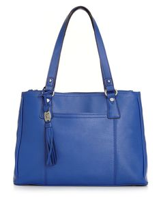 NEW! Tignanello Handbag, Sophisticate Shopper - All new Piega Leather! Make a statement with this sleek triple entry shopper only $169.00 at macy's!