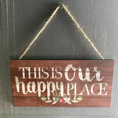 Our Happy Place sign decor Camping Life, Rv Life, Camping Theme, Rv Camping, Glamping, Love Signs, Diy Signs, Travel Hack, Time Travel