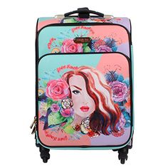 """Nicole Lee CLEO 20"""" EXPANDABLE 4 SPINNER WHEELS ROLLING C...…"""