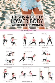 Get your sexy summer legs right here with this lower body workout especially made for you! Shocking results when you do this every day! lower body workout Sexy Summer Full Leg Workout - Lower Body Workout for Women - Transform Fitspo Full Leg Workout, Ab Workout At Home, Bum And Thigh Workout, Hiit Leg Workout, Inner Thight Workout, Workout Plans, Hard Ab Workouts, Tiny Waist Workout, Leg Workout Women